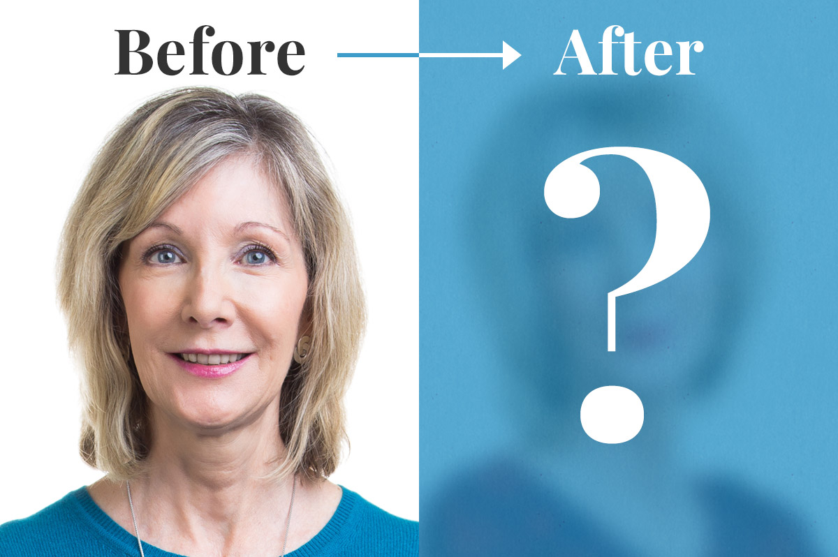 Sherri before and after her makeover