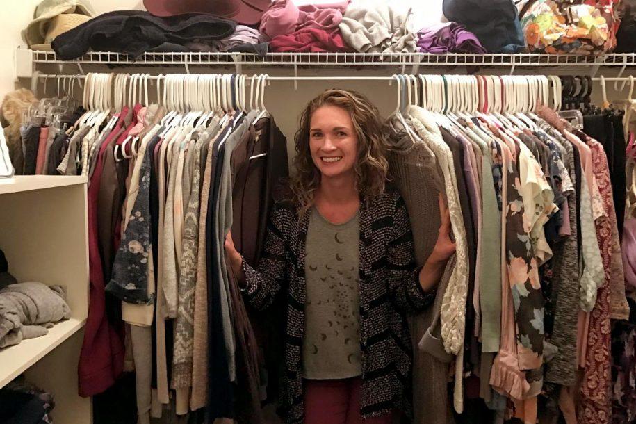 Anne gives a closet tour