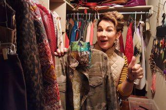 Carol gives a closet tour