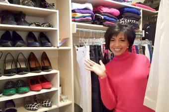 Deborah gives a closet tour