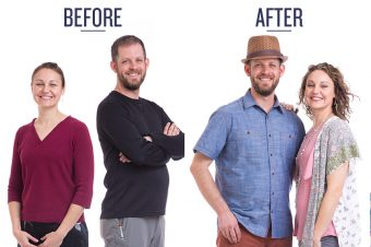 couple's before and after photo
