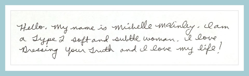 Gentle and connected Type 2 person's handwriting sample