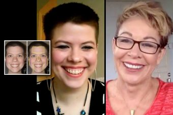 split screen of woman discovering who she really is with Carol Tuttle