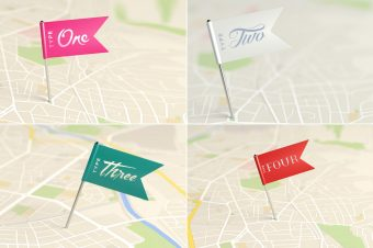 4 places on the map showing 4 different Types. Countries have different personalities and Types!