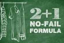 chalkboard with 2+1 formula
