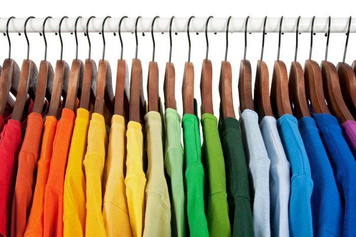clothing of all different colors