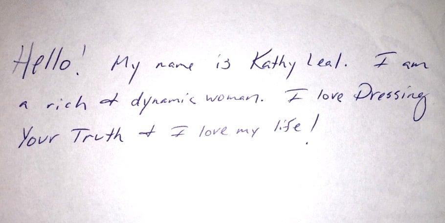 Kathy Type 3 Handwriting