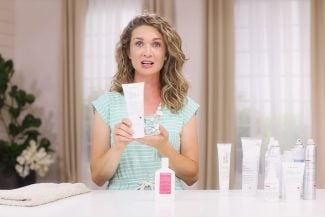 Anne shows DYT curly hair products