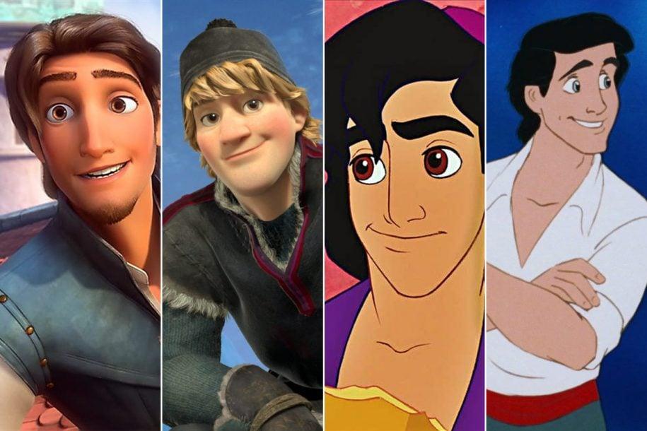 Disney Prince - Flynn Rider, Kristoff, Aladdin, Eric