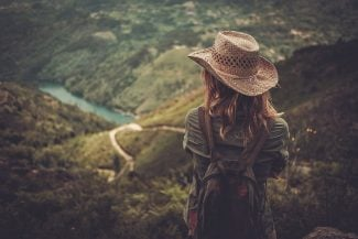 Girl looking out over mountains - Type 3 tips
