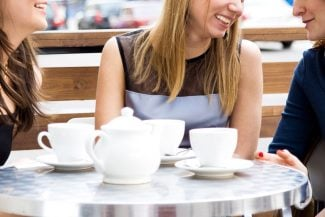 Type 4 Lifestyle tips - Type 4 women socializing with tea