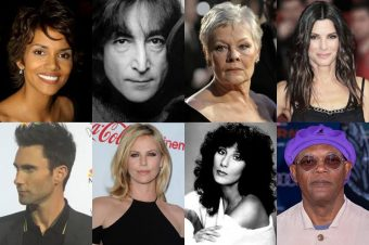 Collage of Type 4 celebrities