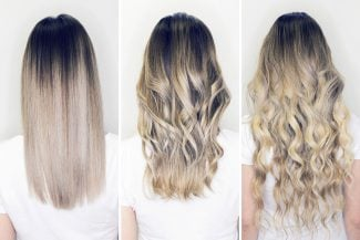 3 versions of hair, showing different Yin Yang elements for your Type