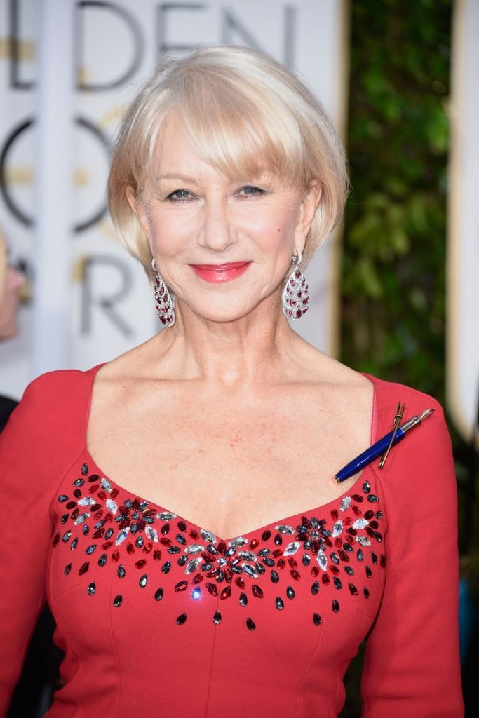 Hairstyles to make you look younger - Helen Mirren - bangs