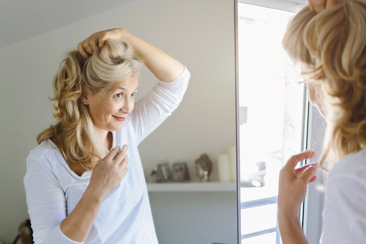 Long hairstyles for ladies over 50