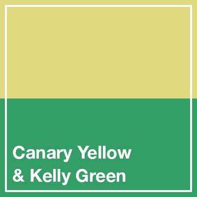 Canary Yellow & Kelly Green square