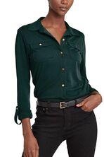 Matte Jersey Buttoned Top