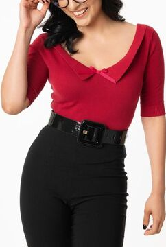 Red Babette Sweater Top