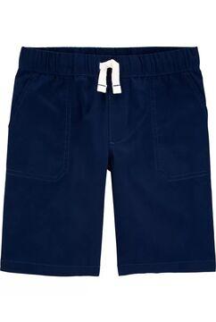 Gradient Slub Jersey PoloPull-On Poplin Shorts