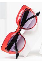 Dark Red Grin Cat Eye Sunglasses