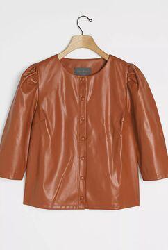 Josefine Faux Leather Buttondown