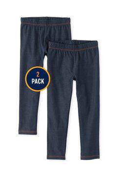 Girls Faux Denim Leggings 2-Pack