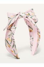 Fabric-Covered Bow-Tie Headband