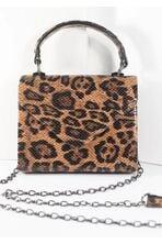 Leopard Print & Reptile Texture Handbag